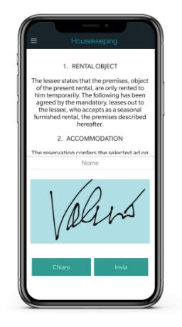 mobile app for signature